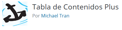 Tabla de contenidos plugins de wordpress