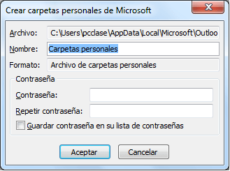 Copias de seguridad de outlook