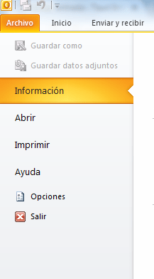 copias de seguridad en outlook