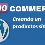 Como crear producto simples en Woocommerce